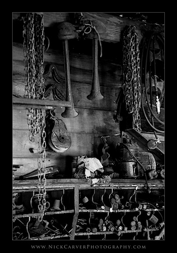 Old tools and parts in a shed - Ilford Delta 100 Film