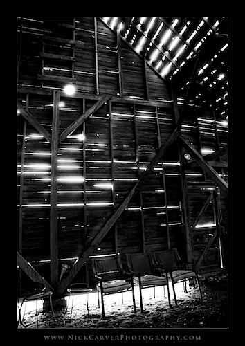 Interior of an old barn in Utah - Ilford Delta 100 Film