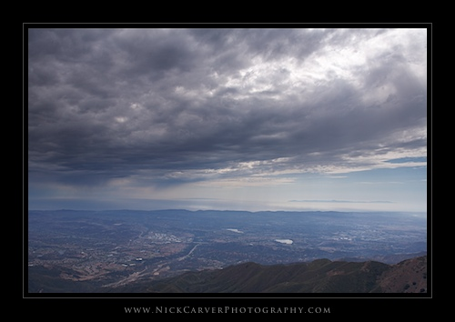Looking West from Santiago Peak, Saddleback Mountain, Orange County, CA