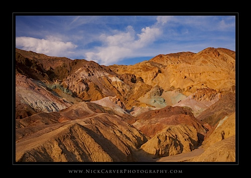 Artists Drive in Death Valley National Park, CA