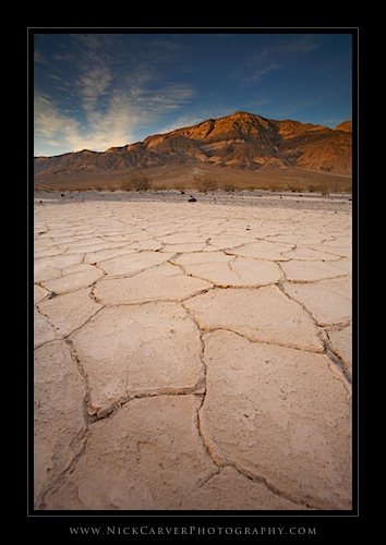 Panamint Mountains at sunset in Death Valley National Park, CA