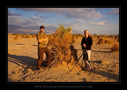 Nick Carver & Kim Murphy at Devil's Cornfield in Death Valley National Park, CA