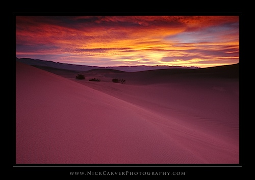 The Mesquite Flat Sand Dunes at sunrise in Death Valley National Park, CA