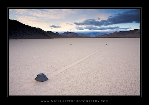 The Death Valley Racetrack Moving Rocks