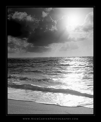 B&W Beach at Sunrise