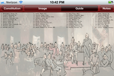 """Constitution"" App for iPhone and iPad"