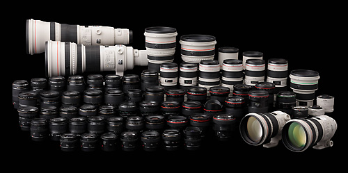 Canon's Insanely Extensive Lineup of Lenses