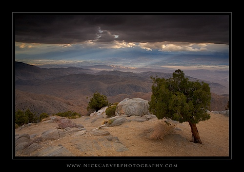 Keys View in Joshua Tree National Park, CA