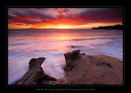Sunset at Heisler Park in Laguna Beach, CA