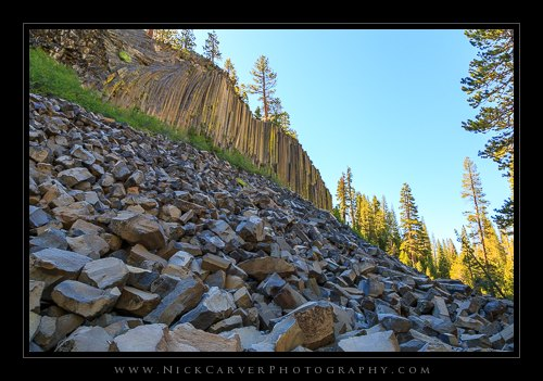 The start of the trail - Devil's Postpile