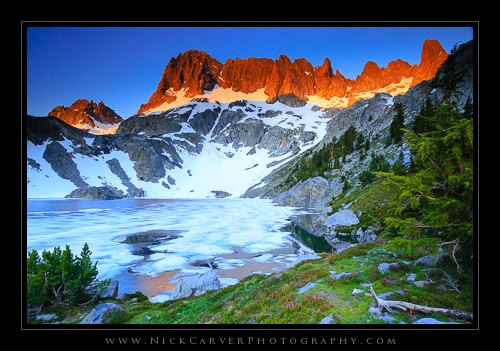 Iceberg Lake at Sunrise