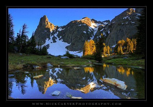 Setting Sunlight at Minaret Lake