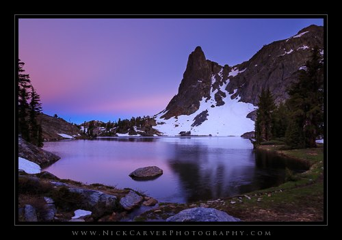 Dusk at Minaret Lake