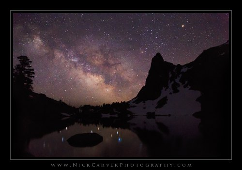 The Milky Way over Minaret Lake