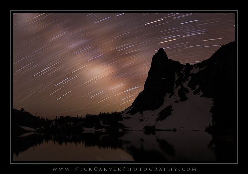 Star Trails Over Minaret Lake