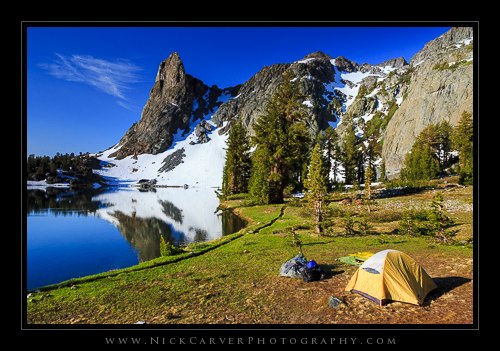 Campsite Night 1 at Minaret Lake
