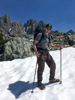 Nick Carver Backpacking in the Ansel Adams Wilderness