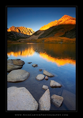 North Lake at sunrise in Autumn - Sierra Nevada Mountains, CA