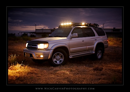 2000 Toyota 4Runner with Gobi Stealth Rack and Off-Road Lights