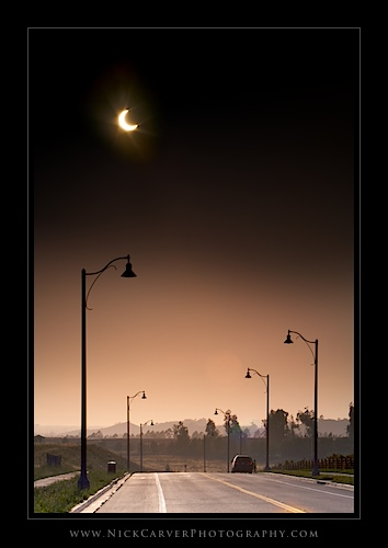 Annular Solar Eclipse in Irvine, CA on May 20, 2012