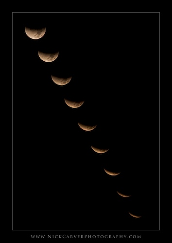 December 2011 Lunar Eclipse from Torrey Pines State Natural Reserve, CA