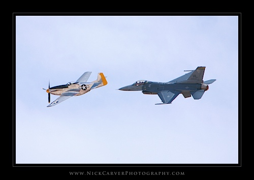 F-16 Fighting Falcon & P51 Mustang - Miramar Air Show 2011