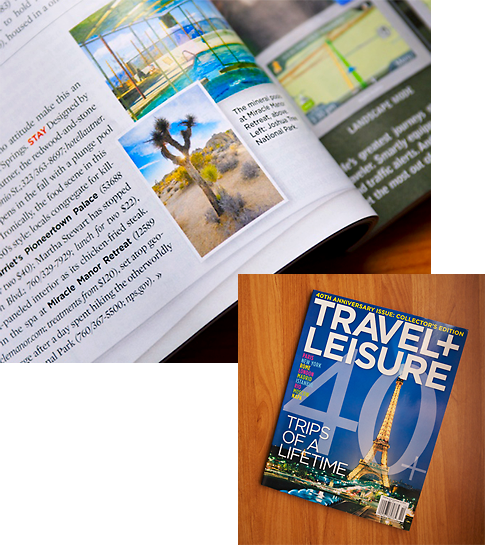 Published in Travel + Leisure Magazine