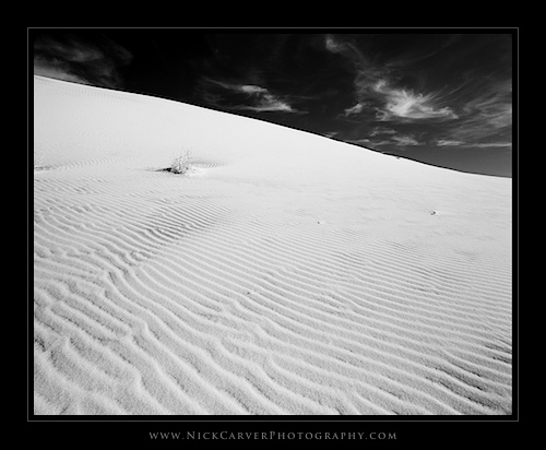 Mojave Desert Landscape Photography in Black and White