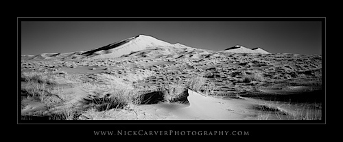 Mojave Desert Black and White Landscape Photography