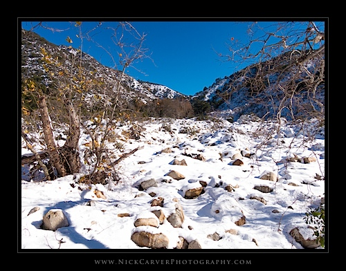 Trabuco Canyon Trail: Snow in Orange County