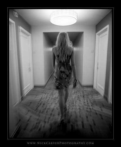 Photo a Day Challenge: Day 6 - Girl in Hallway on Ilford Delta 100 Film