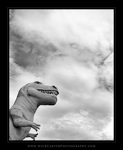 Photo a Day Challenge: Day 7 - Cabazon Dinosaurs on Ilford Delta 100 Film