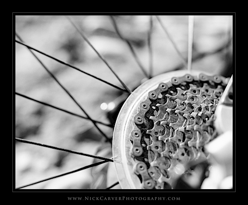Photo a Day Challenge: Day 15 - Bike Spokes on Ilford Delta 100 film
