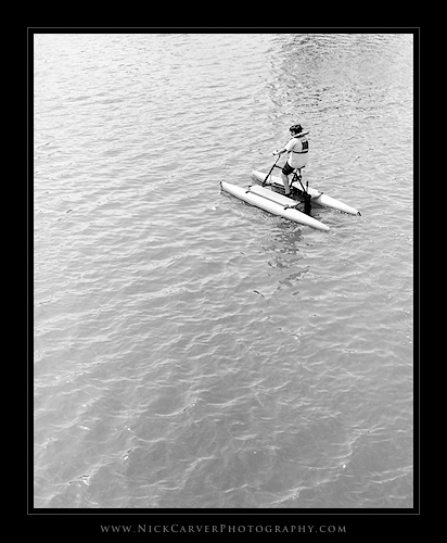 Photo a Day Challenge: Day 21 - Boy on Paddle Bike on Ilford Delta 100 film