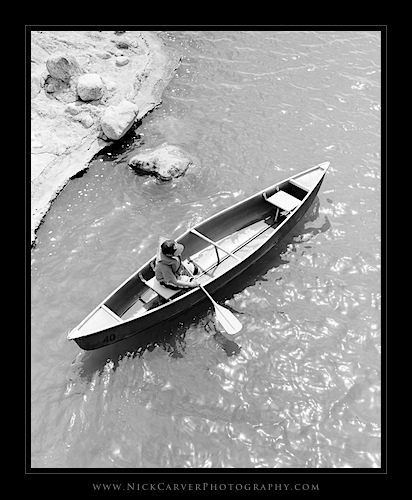 Photo a Day Challenge: Day 21 - Boy in Canoe on Ilford Delta 100 film