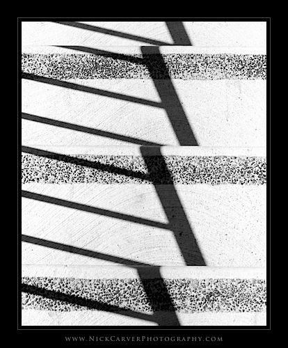Photo a Day Challenge: Day 22 - Shadows on Stairs on Ilford Delta 100 film