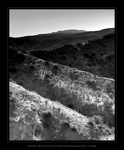 Photo a Day Challenge: Day 24 - Hills in Orange County on Ilford Delta 100 film