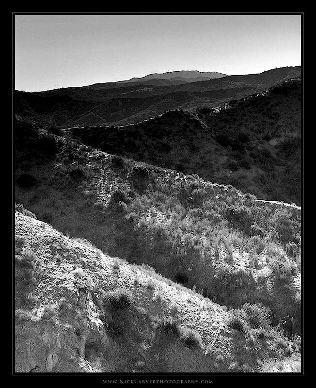 Photo a day challenge day 24 hills in orange county on ilford delta 100