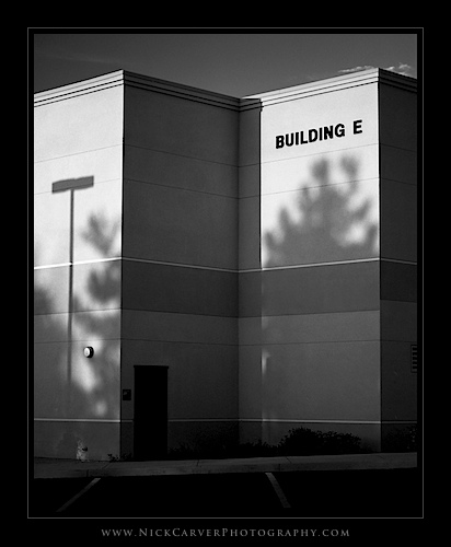 Photo a Day Challenge: Day 25 - Building E on Ilford Delta 100 film