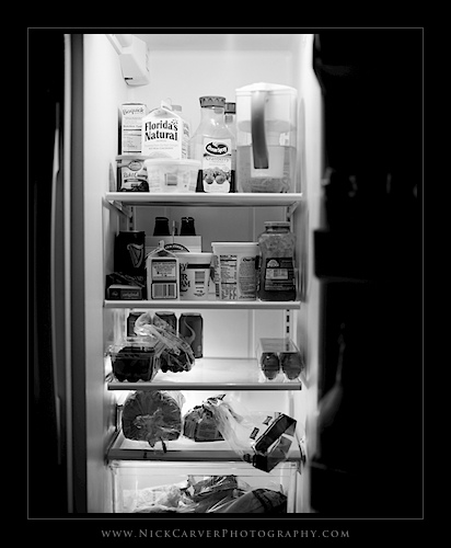 Photo a Day Challenge: Day 27 - Fridge on Ilford Delta 100 film