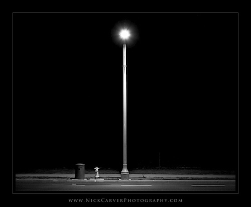 Photo a Day Challenge: Day 29 - Streetlight on Ilford Delta 100 film