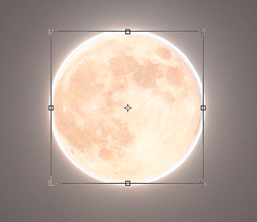 Photoshop Tutorials - Enlarge the supermoon