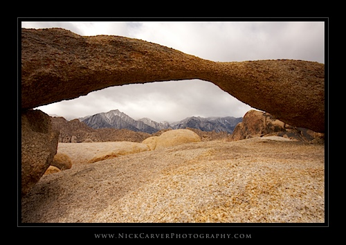 Lathe Arch in the Alabama Hills Recreation Area - Near Lone Pine, CA