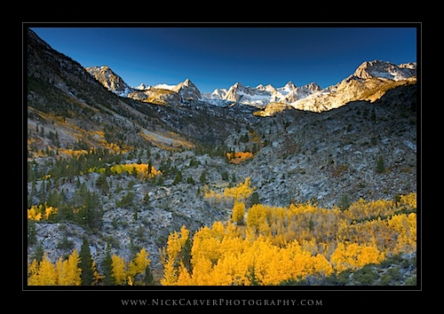Overlooking Sabrina Basin in Fall, near Bishop, CA