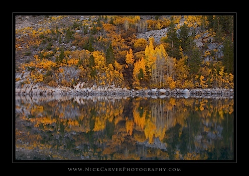 Reflections in Lake Sabrina in Autumn